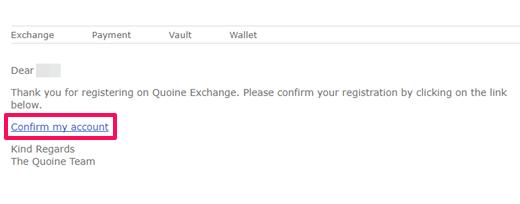 コインエクスチェンジ 確認メール画面