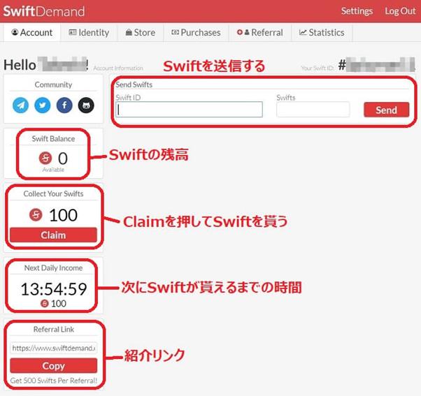 Swift Demandを無料でもらう方法